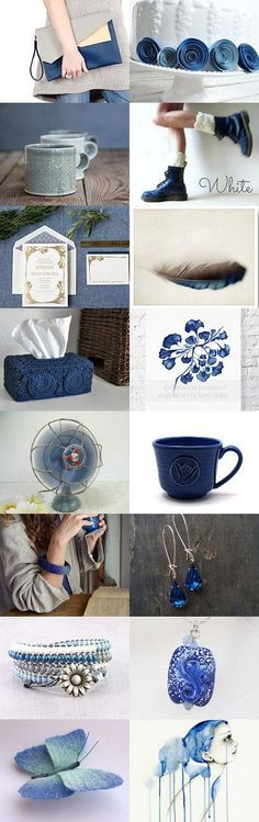 Dark Blue on a Cloudy Day by DecadesOfVintage on Etsy--Pinned with TreasuryPin.com