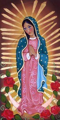 by Aurora Garcia Catholic Art, Religious Art, Virgin Mary Art, Faith Crafts, Verge, Spiritual Paintings, Blessed Mother Mary, Spirited Art, Learn Art