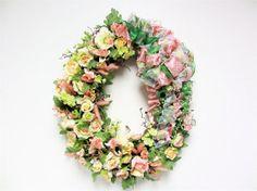 Spring/Summer/Wedding Shabby Chic Silk by SandyNewhartDesigns XLARGE 32X25 OVAL