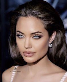 Angelina Jolie – The World Angelina Jolie Fotos, Angelina Jolie Makeup, Angelina Jolie Style, Beautiful Eyes, Most Beautiful, Beautiful Women, Beauty Makeup, Hair Makeup, Hair Beauty