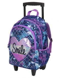Dye Effect Smile Roller Backpack