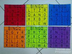 bingos_de_letras_em_eva Periodic Table, Diagram, Sight Word Bingo, Bingo Cards, Alphabet For Kids, Traditional, Periotic Table, Periodic Table Chart