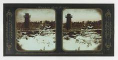 Winter Niagara Falls, Terrapin Tower from Goat Island, Glass stereoscopic transparency. Niagara Falls Pictures, Happy New Year Fireworks, Terrapin, Design Museum, Studio Portraits, Goats, Buffalo, Photographers, Artsy