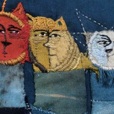 """""""Sun moon star heads #straycats #storycloth"""" by Jude Hill"""
