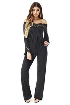 51c17d4d3b40 SKY Womens VALENTINO Jumpsuit Black   See this great product. (This is an  affiliate link)  ladiesjumpsuitsandrompers