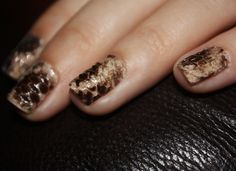 Snakeskin manicure. I don't know if I actually like it, but it's definitely different