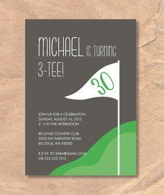 Printable Golf Birthday/Party Invitation: Golf Themed by FrellaDesigns on Etsy https://www.etsy.com/listing/236736417/printable-golf-birthdayparty-invitation