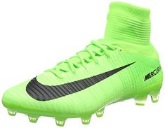 Men's Mercurial Superfly V FG Electric Green/Black/Ghost Green Soccer Shoes  * Continue