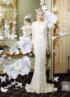 Maialen wedding dress #yolancris #weddingdress #lacedress #elegance #weddingideas #bridestyle #couture #couturedress #newcollection #laceweddingdress