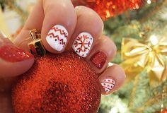 Christmas Nail Christmas Nails, Beauty, Christmas Manicure, Xmas Nails, Beauty Illustration