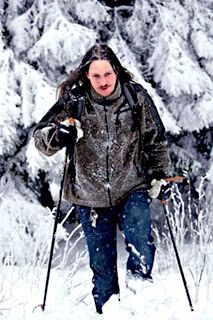Fenriz does snow walk