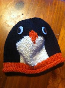 This is just so super cute! I've changed the beak from the picture, making it more 3D, and in dk wool. Cast on 80 stitches in orange o...