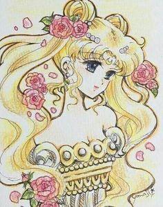 Dibujo princesa serenity