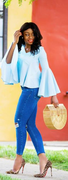 Bell Sleeves // Fashion Look by Jadore-Fashion