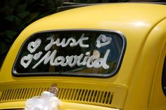 Decorating the wedding car is definitely a fun and creative way to honor (or even embarrass) the newly married couple!. If you'll be helping to decorate the couple's wedding car, here are lots of fun ideas for you -- including photos of all the best wedding car decorations & supplies to use!