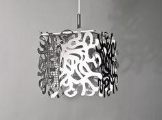 MODULARI Swirl, pendant light, polished aluminum