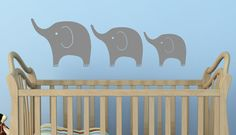 Set of 3 Elephants. Custom Vinyl Wall decal From USA - £17.71 with shipping