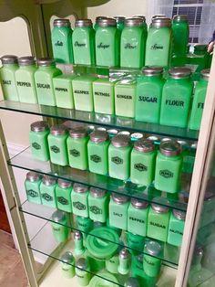 Jojo's Jadeite spice cabinet