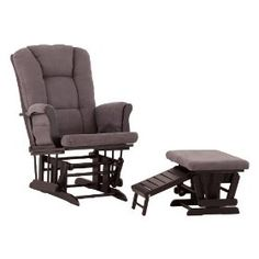 Gray and black gliding recliner