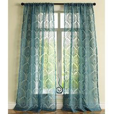 Peacock Burnout Curtain. for the master maybe?