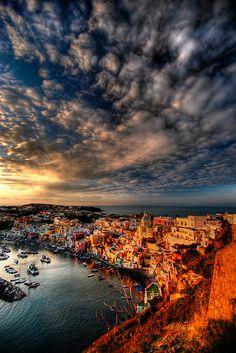 Sunset - Procida, Naples, Italy.