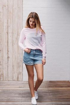 Our much loved and best selling Hettie Spot Jumper is back in stock. Made from high quality soft cotton. ο cotton ο Studio, Pale Pink, Jumper, Spring Summer, Cotton, Fashion, Moda, La Mode, Jumpers