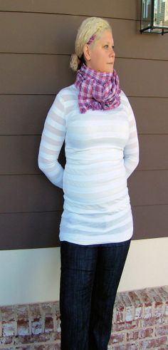 Long sleeve t shirt Organic cotton tunic White by jennipink, $45.00