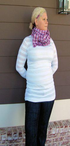 Long sleeve t shirt Organic cotton tunic White by jennipink, $45.00