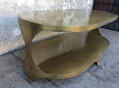 Brass coffee table $750