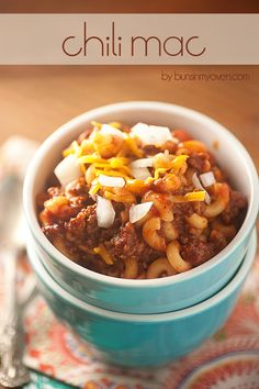 This chili mac recipe comes together in minutes and is a family favorite!