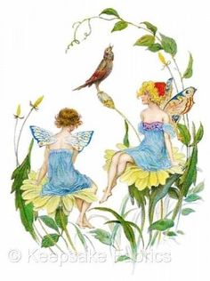 Fairy-Fantasy-Flowers-Bird-Quilt-Block-Multi-Sizes-FrEE-ShiPPinG-WoRld-WiDE-F4