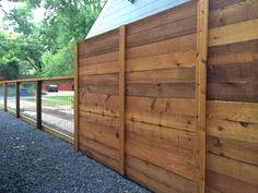 6'H, Horizontal Cedar Privacy -  4'H, Bull Panel w/ cap & trim