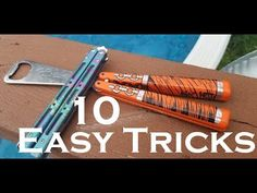 First 10 Balisong Tricks You Should Learn. 10 Beginner Butterfly Knife Tricks. - YouTube