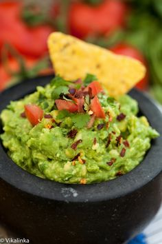 Guacamole. Quick, delicious and SO GOOD for you!! No wonder it's #1 choice for an appetizer.