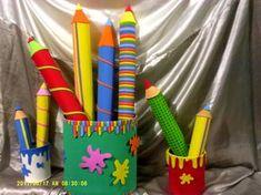 Rosearts- Atividades para imprimir: Enfeite Porta lápis gigante de garrafa pet com molde