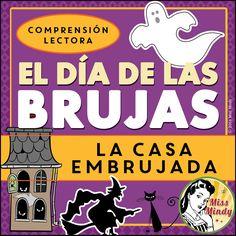 Boom Cards - { La Casa Embrujada } Spanish Halloween Reading Comprehension Passage - El Día de las Brujas