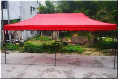Outdoor Canopy Gazebo Shelter 10x20 Party Backyard Red Steel Fabric Pop Up US $259.99#OutdoorCanopyGazeboShelter