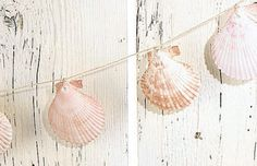 Sea Shell Garland Photo @Kristi Armstrong  think we could make our own? great for your tree :o)