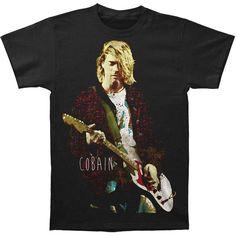 Kurt Cobain - Red Jacket Guitar Photo Adult T-Shirt