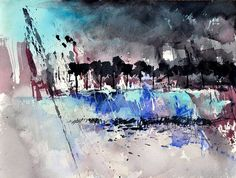 abstract watercolor 1245 - Pol Ledent's paintings