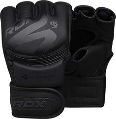 RDX Cowhide Leather MMA Gloves Fight Cage Kick Boxing Punching Muay Thai Red