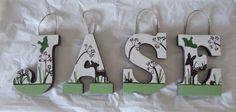 Deer Nursery Letters/ Custom Nursery Letters to Match by HLCustoms, $10.00