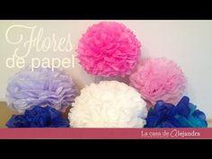 Pompones de papel para decorar una fiesta