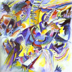 Artist name: Kadinsky This picture is an abstraction of many things and the color is very vibrant.  I like this picture because there's a lot of interesting things in it. I want to learn how to paint like him.