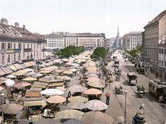 Naschmarkt in WIen um 1900 Visit Austria, Vienna Austria, Plaza Hotel, Grand Hotel Wien, Hotel Bellevue, Mercure Hotel, Austrian Empire, Honeymoon Pictures, Heart Of Europe