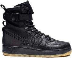 Buy and sell authentic Nike SF Air Force 1 Black Gum No Bag) shoes and thousands of other Nike sneakers with price data and release dates. Nike Air Force Ones, Air Force 1, Futuristic Shoes, Nike Air Shoes, Black Gums, Fancy Shoes, Mens Gear, Fresh Shoes, Triple Black