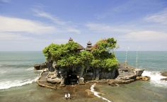 "Tanah Lot, one of countless Hindu  temples on Bali, nicknamed ""Island of the  Gods."" (From: Photos: 10 Islands to See Before You Die)"