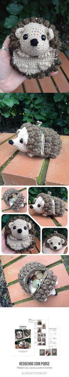 Hedgehog Coin Purse crochet pattern