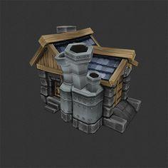 Factory - Human RTS Buildings - Low Poly 3D Model - Bitgem