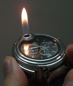 Light a Cigarette like a James Bond.  http://geekandhip.com/product/lighter-watch/